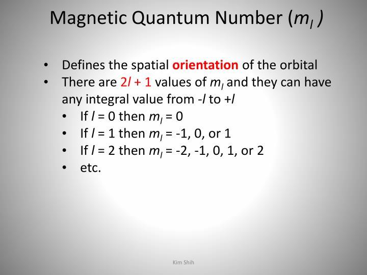 Magnetic Quantum Number (