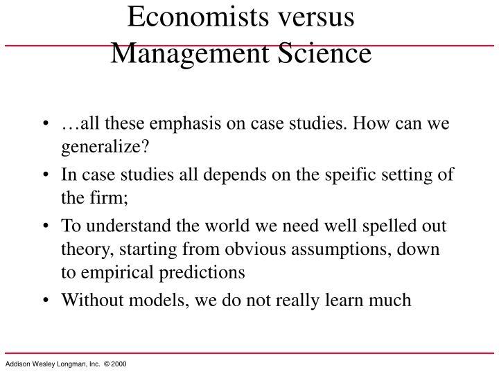 Economists versus