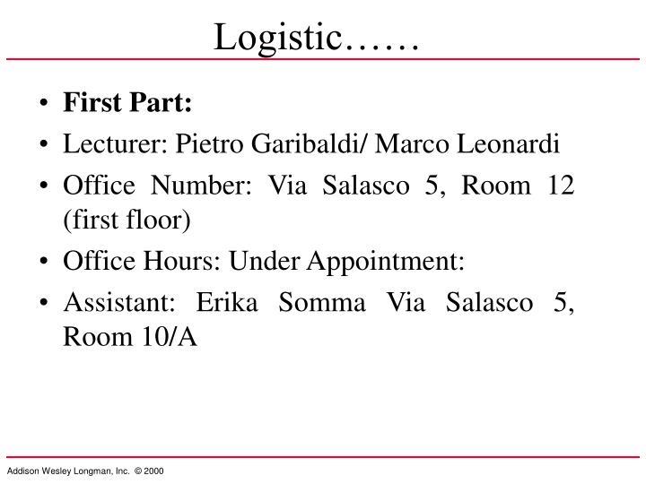 Logistic……