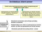 architektura klient serwer