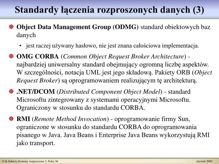 Standardy łączenia rozproszonych danych (3)