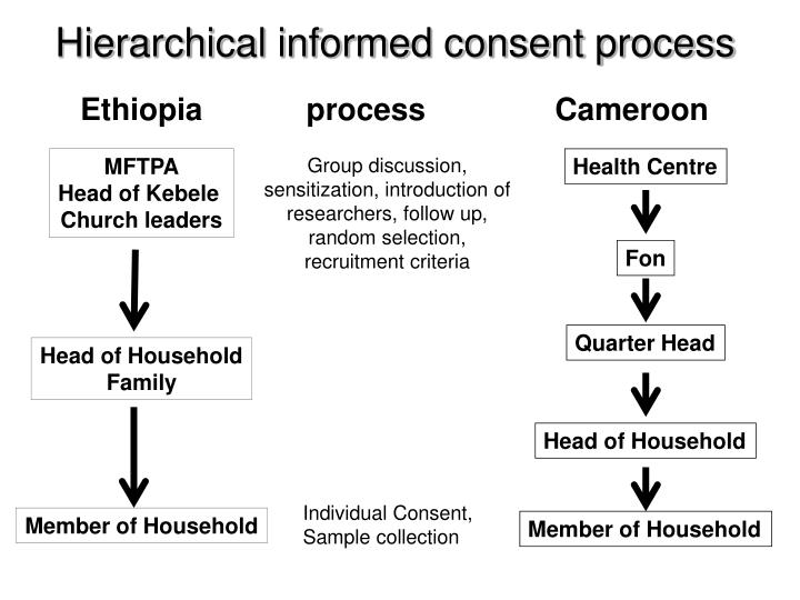 Hierarchical informed consent process