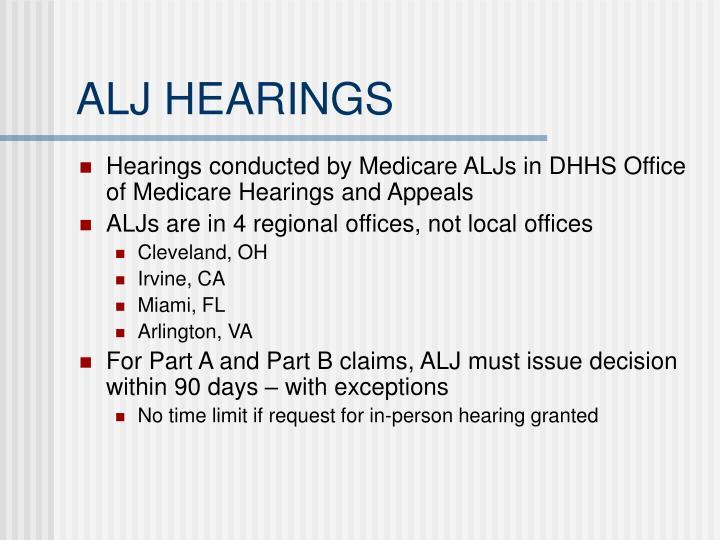 ALJ HEARINGS