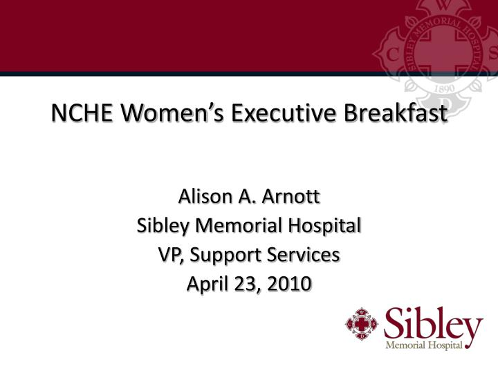NCHE Women's Executive Breakfast