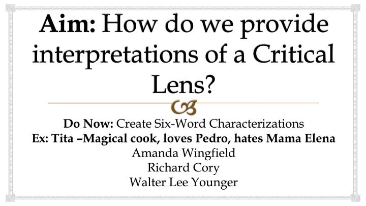transition words critical lens essay Connect all of your examples back to your thesis use transition words/phrases between body paragraphs because in 11th grade you will take the english regents exam (a really important test) 70% of your grade is based off of four essays the critical lens.