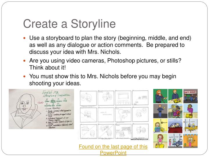 Create a Storyline