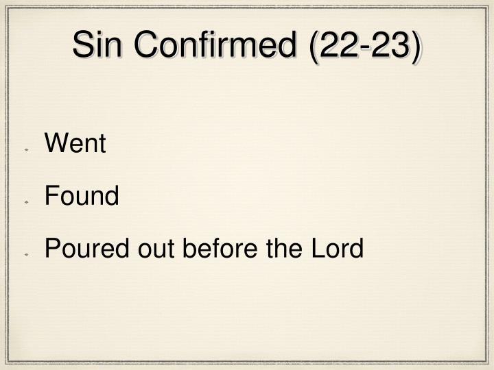 Sin Confirmed (22-23)