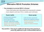 alternative res e promotion schemes