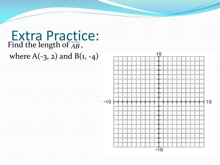 Extra Practice: