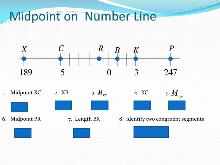 Midpoint on  Number Line