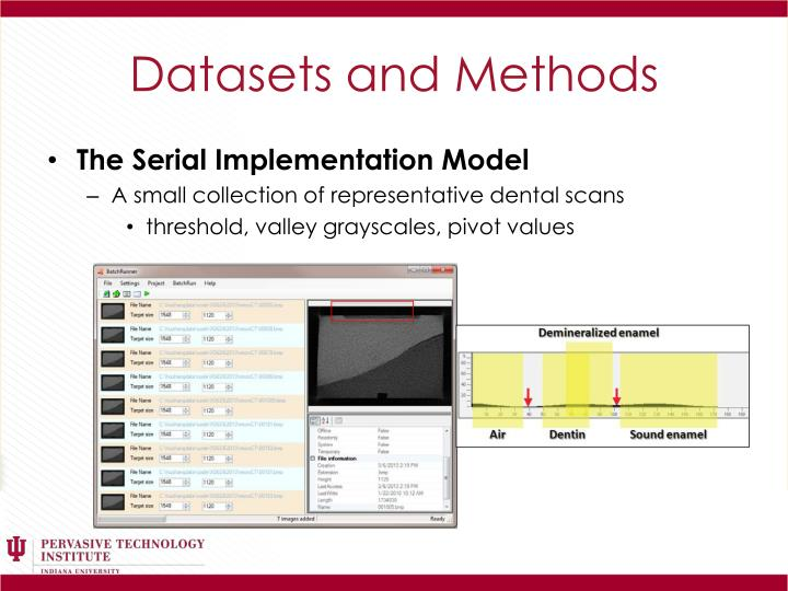 Datasets and Methods