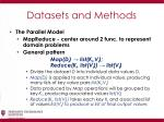 datasets and methods7
