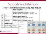 datasets and methods8