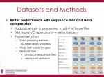 datasets and methods9