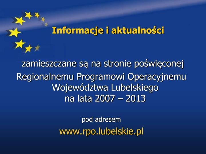 Informacje i aktualności