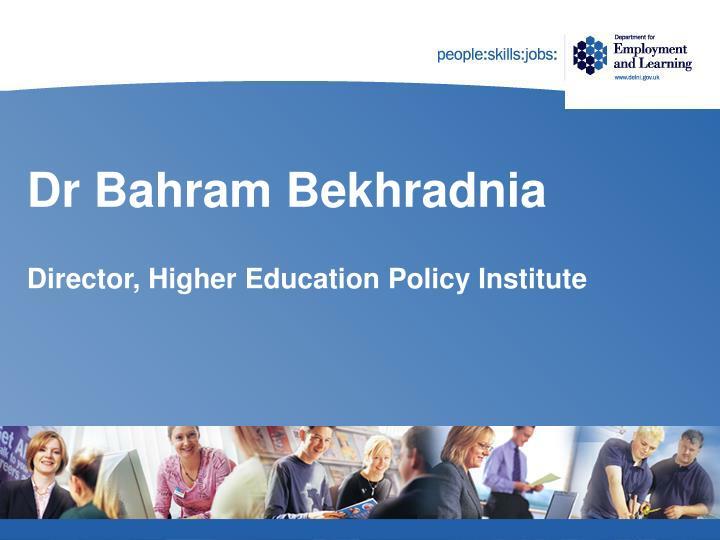 Dr Bahram Bekhradnia