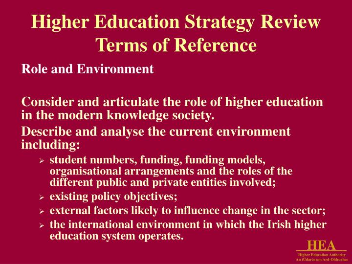 Higher Education Strategy Review