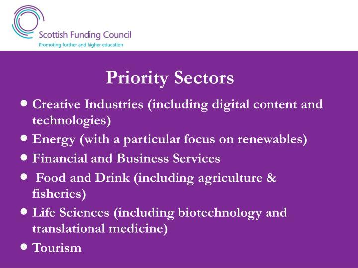 Priority Sectors