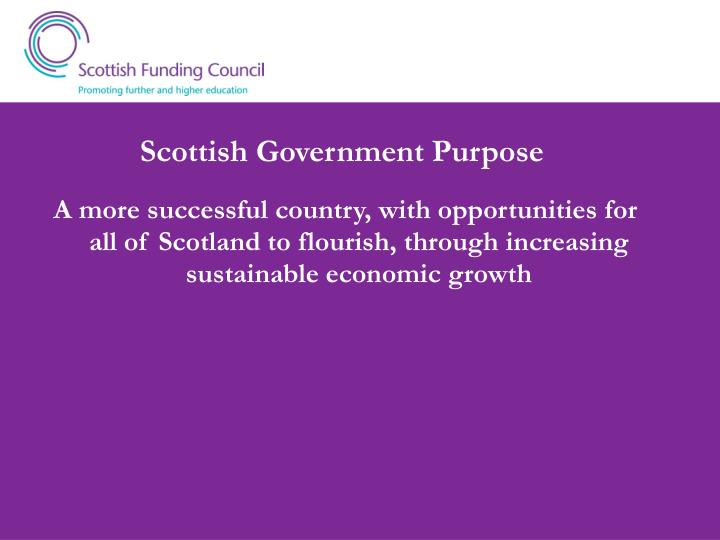 Scottish Government Purpose