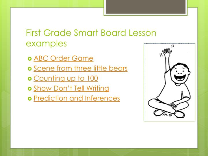 First Grade Smart Board Lesson examples