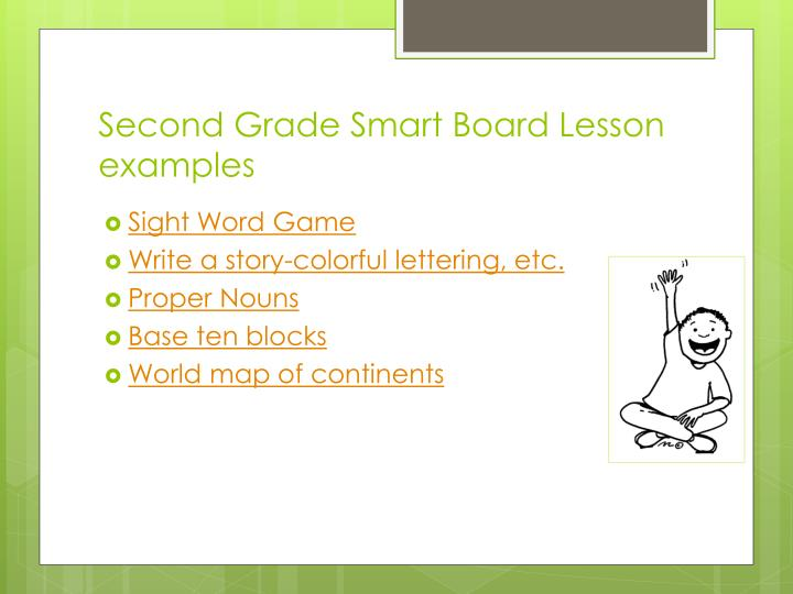 Second Grade Smart Board Lesson examples