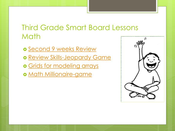Third Grade Smart Board