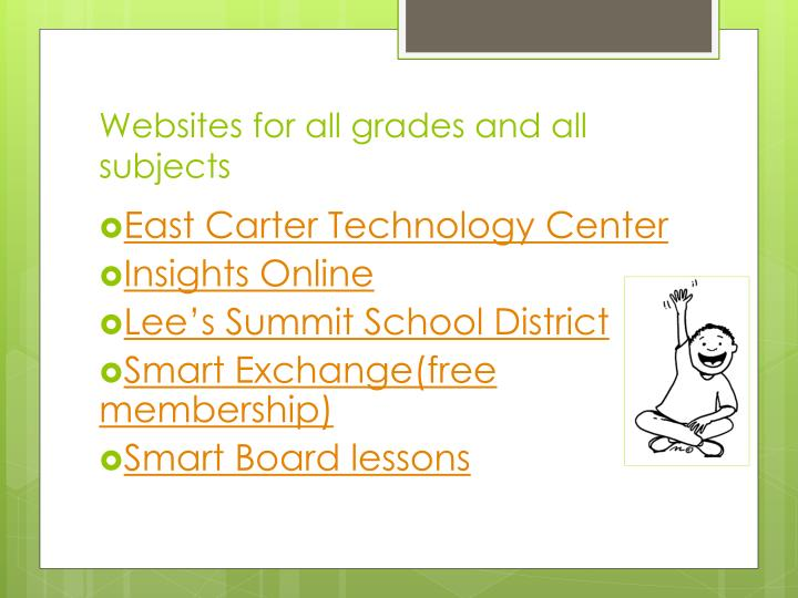 Websites for all grades and all subjects
