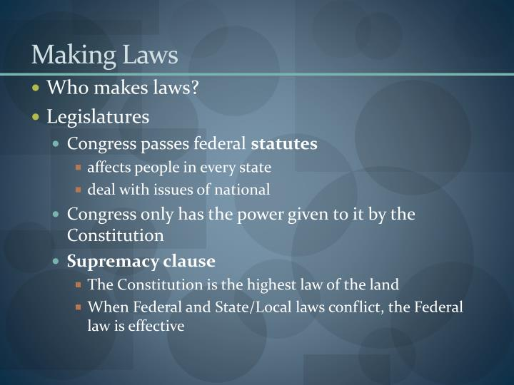 Making laws