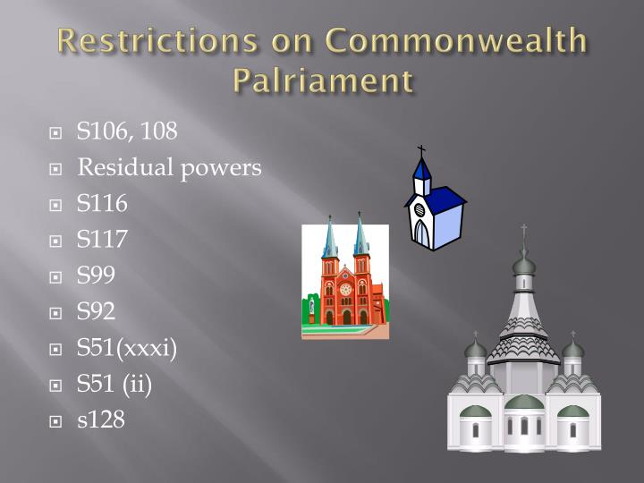Restrictions on Commonwealth