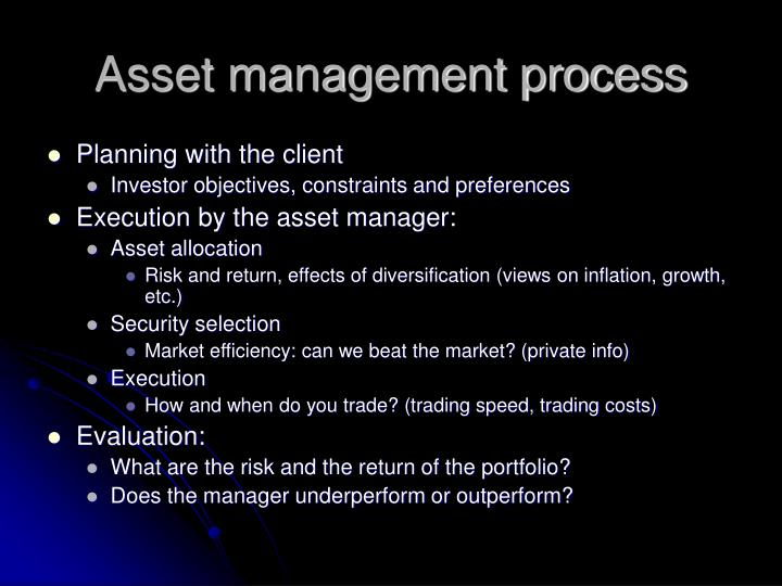 Asset management process