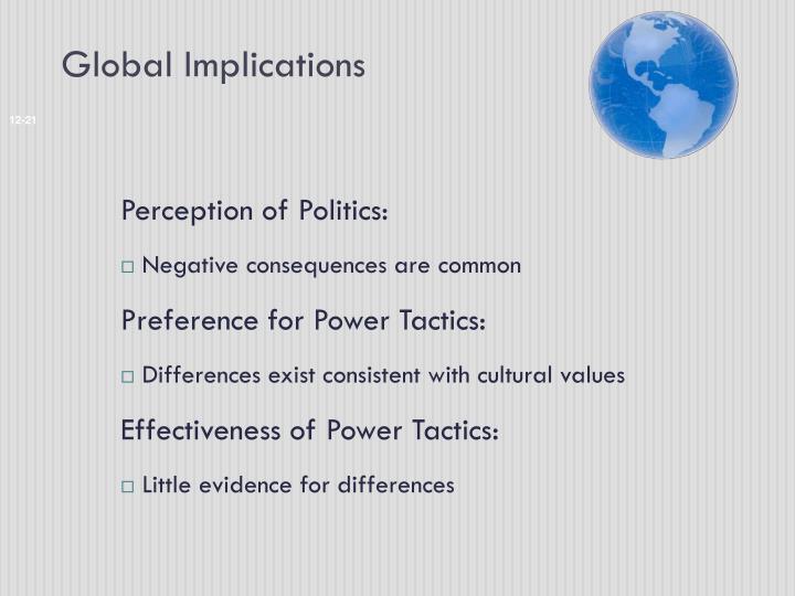 Global Implications