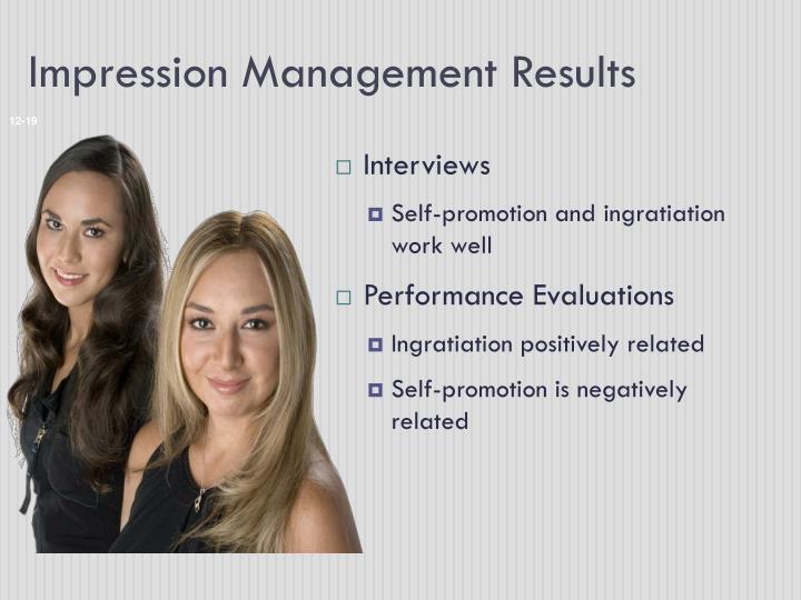 Impression Management Results