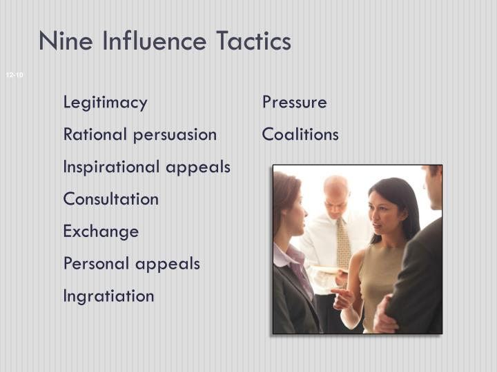 Nine Influence Tactics