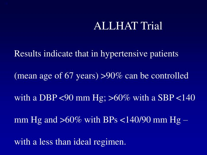 ALLHAT Trial