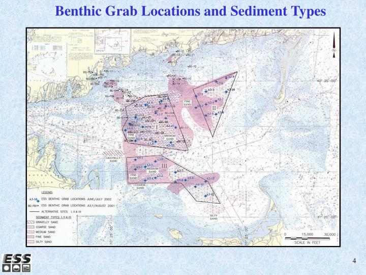Benthic Grab Locations and Sediment Types