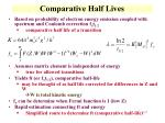 comparative half lives