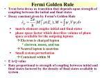 fermi golden rule