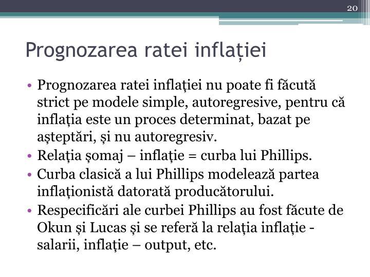 Prognozarea ratei inflației