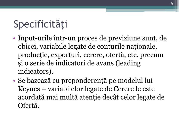 Specificități