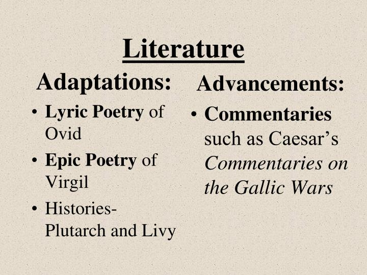 Adaptations: