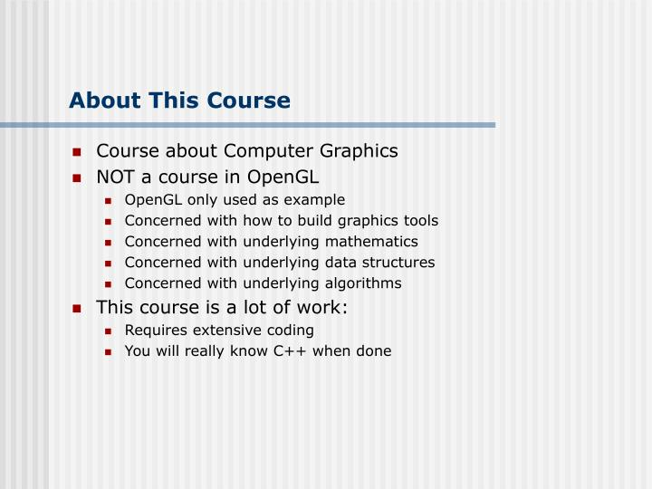 About This Course