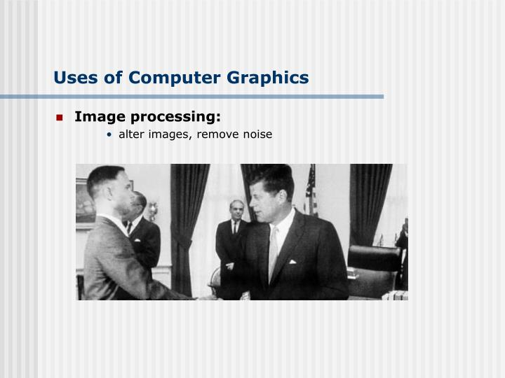 Uses of Computer Graphics