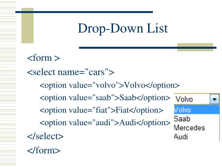 Drop-Down List