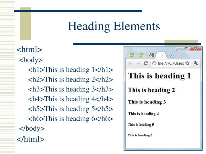 Heading Elements