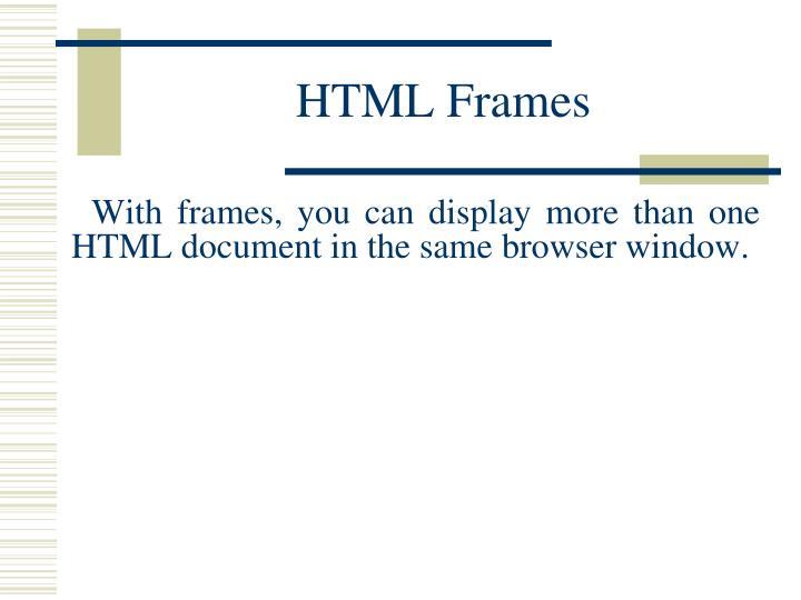 HTMLFrames