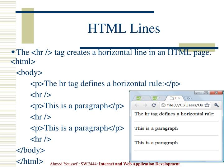 HTML Lines