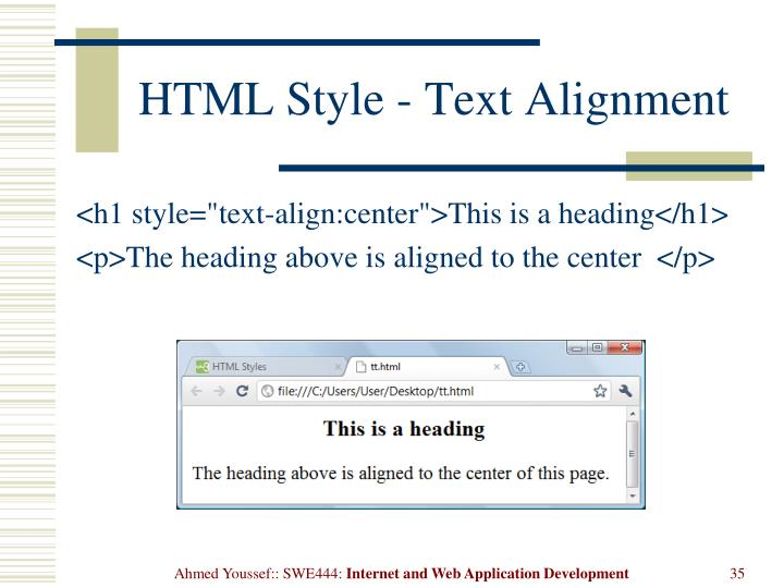 HTML Style - Text Alignment