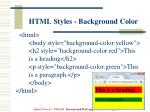 html styles background color