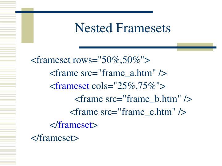Nested Framesets