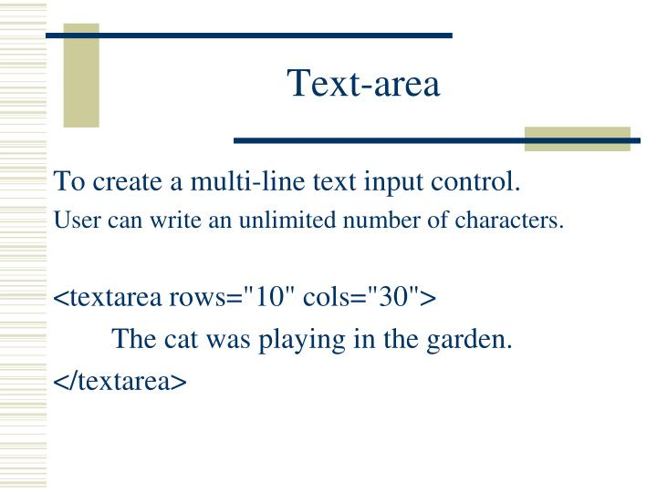 Text-area